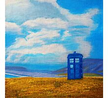 TARDIS: Seaside Stop Photographic Print