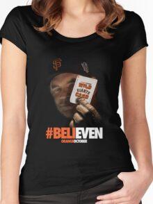 Giants Wild Card: #BeliEVEN Women's Fitted Scoop T-Shirt