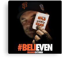 Giants Wild Card: #BeliEVEN Canvas Print