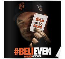 Giants Wild Card: #BeliEVEN Poster