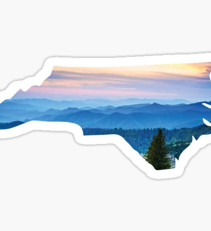 North Carolina Mountains Sticker