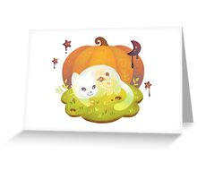 Ghost Kitty and Treats Greeting Card