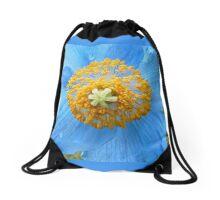 BLUE POPPY FLOWER  Drawstring Bag