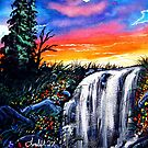 rainbow falls by LoreLeft27