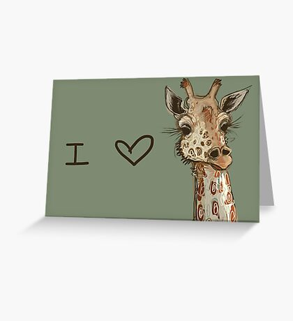 Lovely Lashes Giraffe Greeting Card