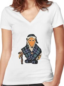 Womble Great Uncle Bulgaria Women's Fitted V-Neck T-Shirt