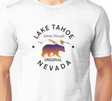 LAKE TAHOE SIERRA NEVADA ORIGINAL LAKE BOAT BOATING BEAR Unisex T-Shirt