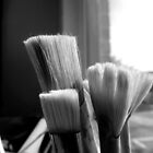 Artist Paint Brushes by Sandra  Aguirre