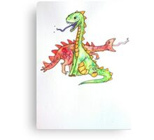 Silly Lizards Canvas Print