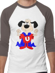 dog super hero Men's Baseball ¾ T-Shirt