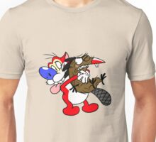 Shipping's: Stimpy and Daggett Unisex T-Shirt