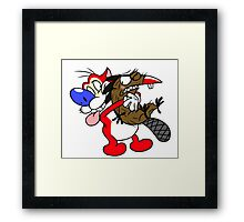 Shipping's: Stimpy and Daggett Framed Print