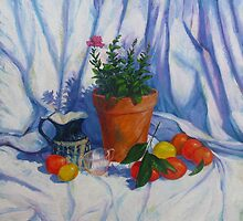 Oranges Lemons and a Double Petunia by Cary McAulay