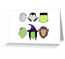 Kawaii Halloween Monsters Greeting Card