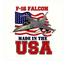 F-16 Falcon Made in the USA Art Print