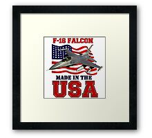 F-16 Falcon Made in the USA Framed Print