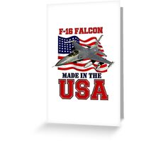 F-16 Falcon Made in the USA Greeting Card