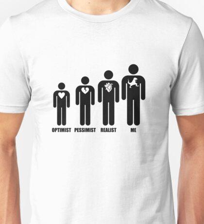 Optimist, Pessimist, Realist, T-Rex Unisex T-Shirt