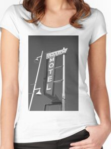 Route 66 - Aztec Motel Women's Fitted Scoop T-Shirt