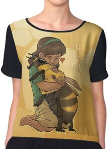 Give Bees A Chance Chiffon Top