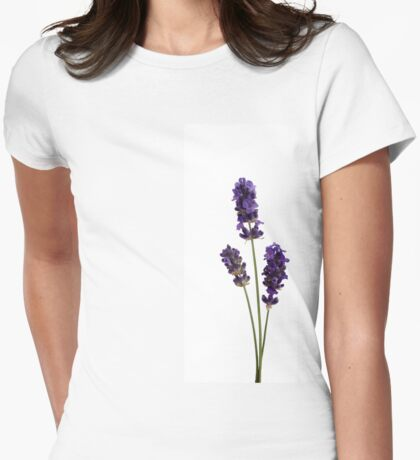 Lavender Trio Womens Fitted T-Shirt