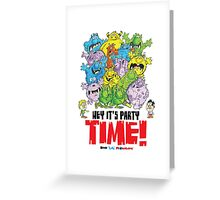 Descriptive Monster Party time! Greeting Card