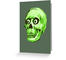 CREEP II (green) Greeting Card