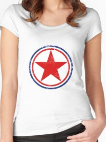 Military Roundels - Korean Peoples Army Airforce Women's Fitted Scoop T-Shirt