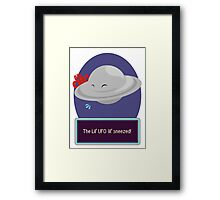 Lil' Ufo Sneeze Framed Print