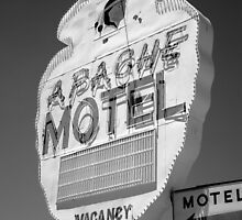 Route 66 - Apache Motel by Frank Romeo