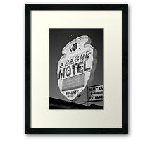 Route 66 - Apache Motel Framed Print