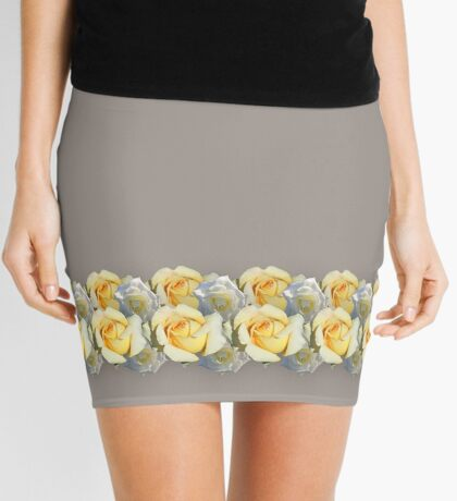 A Yellow Rose and a White Rose Mini Skirt