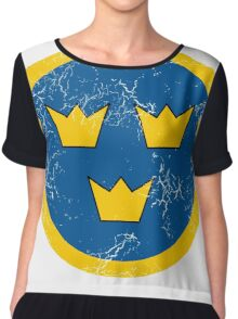 Military Roundels - Flygvapnet Swedish Air Force Chiffon Top