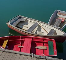 Three Small Boats, Rockport, MA by Gerda Grice