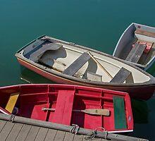 Three Small Boats, Rockport, MA by Gerda Grice