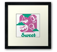 PictoTaste - Sweet Framed Print