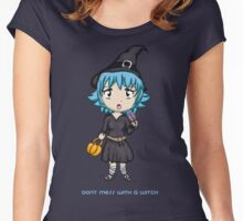 Cute Sassy Witch Women's Fitted Scoop T-Shirt