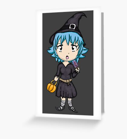 Cute Sassy Witch Greeting Card