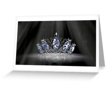 Fantasy Forest Crown - Blue Greeting Card