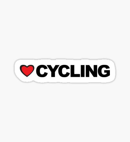 Love Cycling Sticker