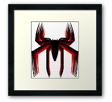 3d spiderman logo Framed Print