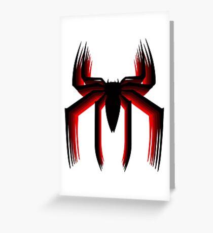 3d spiderman logo Greeting Card