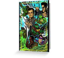 Teenage Mutant Ninja Turtles/Ghostbusters Greeting Card