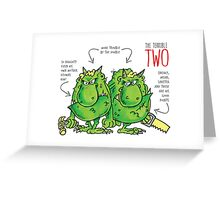 Descriptive Terrible two! Greeting Card