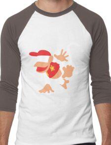 Diddy Kong Vector Men's Baseball ¾ T-Shirt