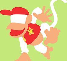 Diddy Kong Vector by ViralDrone