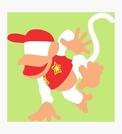 Diddy Kong Vector Photographic Print