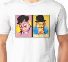LAUREL and HARDY; Vintage Comedy Team Print Unisex T-Shirt