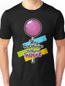 PictoTaste - lollipop black background Unisex T-Shirt