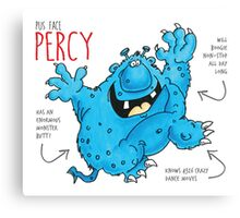 Descriptive Percy! Canvas Print